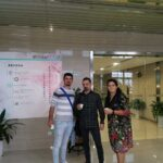 Ovidiu Simion and his son with Alina in the Beike office.